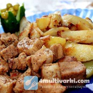 свинина тушеная с картошкой в мультиварке рецепты с фото