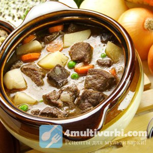 Тушеное мясо в мультиварке Панасоник - готовим дома