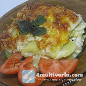 Чудесная картофельная запеканка, приготовленная с помощью мультиварки