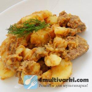 Рецепт тушеной картошки с мясом в мультиварке – на все случаи жизни!