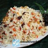 Из риса и фруктов варим плов в мультиварке Поларис!