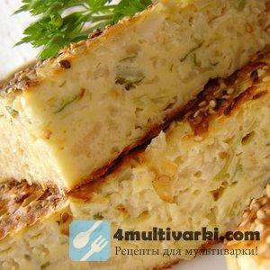 Готовим капустный пирог на кефире в мультиварке