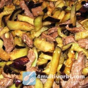 Мясо и баклажаны в мультиварке: рецепт на каждый день