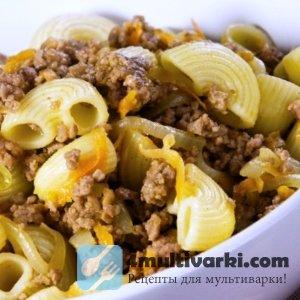 Вегетарианские макароны по-флотски в мультиварке