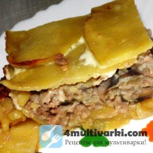 Новый рецепт картофельной запеканки с фаршем для мультиварки