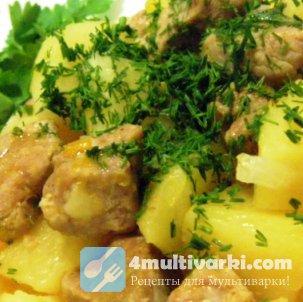Как запечь картофель с мясом в мультиварке быстро и просто?