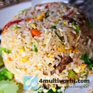 Ароматный рис с овощами и курицей в мультиварке