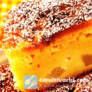 Простой пирог с яблоками на кефире в мультиварке