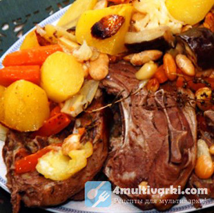 До чего вкусна баранина, тушеная с овощами в мультиварке!