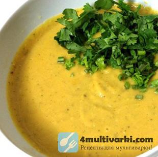 Куриный суп с чечевицей в мультиварке