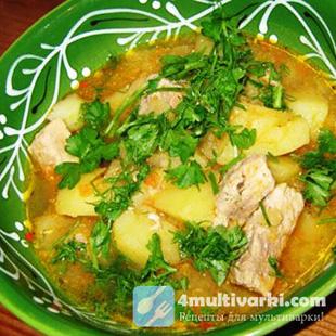 Лучшее зимнее блюдо – тушеная свинина с картофелем в мультиварке