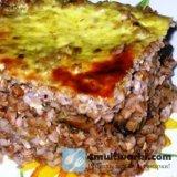 Запеченная гречка с мясом в мультиварке Поларис
