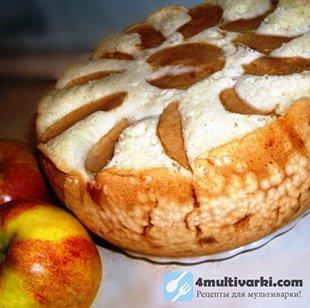 Творожно-яблочный рецепт шарлотки в мультиварке Поларис