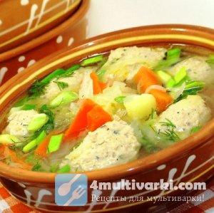 Рассказываем, как приготовить суп в мультиварке с фрикадельками и молодой к ...