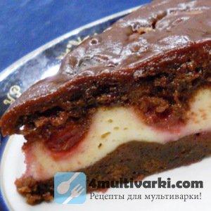 Рецепт творожного пирога в мультиварке с фруктами и шоколадом