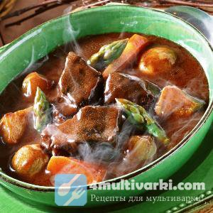 Тушеное мясо с овощами в мультиварке – праздник необычного вкуса