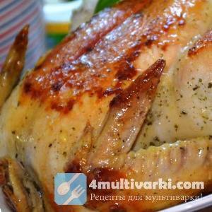 Курица целиком в мультиварке готовится меньше чем за час!