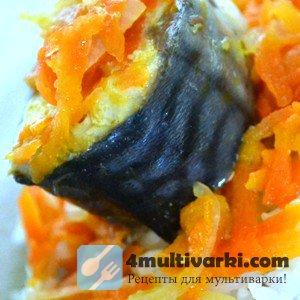 Рецепт скумбрии в мультиварке с овощами
