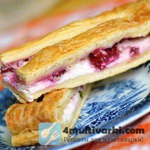 Творожный пирог с вишней в мультиварке радует изысканностью экзотического в ...
