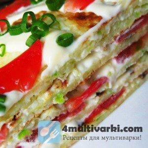 Легкий рецепт кабачкового торта в мультиварке