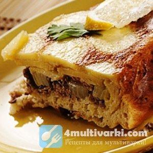 Пирог с картошкой и мясом в мультиварке по-татарски