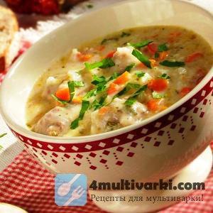 Готовим сливочный суп с курицей в мультиварке