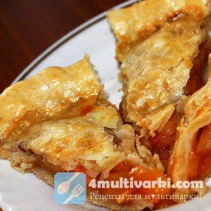 Печем постный пирог с яблоками в мультиварке