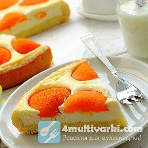 Популярный рецепт творожного пирога с абрикосами в мультиварке