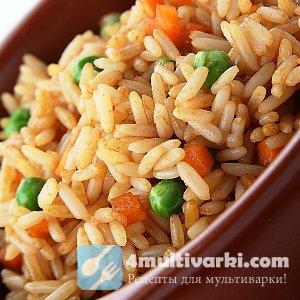 Рисовая каша в мультиваре готовится с овощами