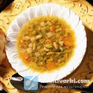 Легкий фасолевый суп в мультиварке Редмонд