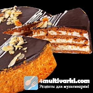 Торт медовик в мультиварке – с кремом и в глазури