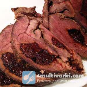 Тушеная говядина с черносливом в мультиварке превращается в отличную холодн ...