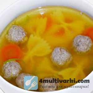 Легкий и сытный суп из фрикаделек в мультиварке