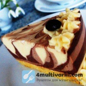 Рецепт пирога Зебра в мультиварке помог создать творожный торт