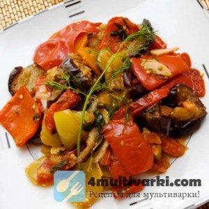 Осеннее овощное рагу с мясом в мультиварке Поларис