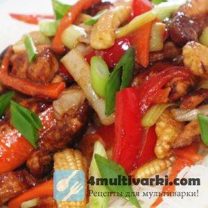 Как приготовить курицу с овощами в мультиварке на китайский манер