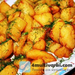 Предлагаем приготовить картофель по-деревенски в мультиварке