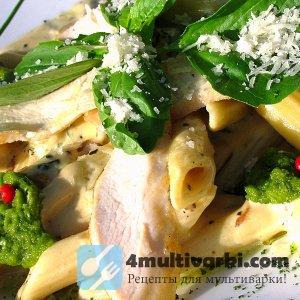 Как приготовить макароны с курицей в мультиварке по-итальянски