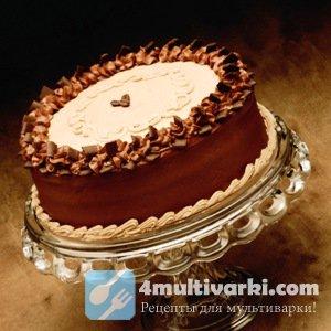 Готовим шоколадный торт на кипятке в мультиварке