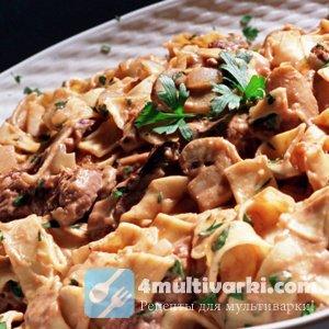 Семейный рецепт бефстроганова из говядины в мультиварке