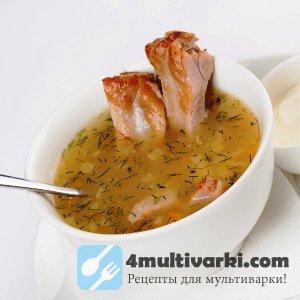 Гороховый суп в мультиварке по старинному рецепту