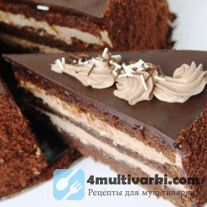Современный рецепт торта «Прага» в мультиварке