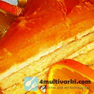 Рецепт апельсинового пирога с творогом в мультиварке