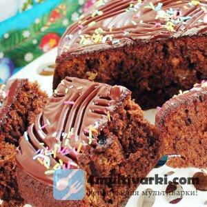 Рецепт кекса с кэробом и изюмом в мультиварке