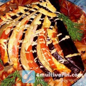 Закусочный рецепт баклажанов в мультиварке