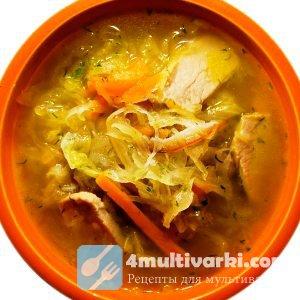 Классический рецепт: щи из квашеной капусты в мультиварке – с мясом и гриба ...