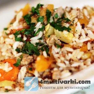 Рис с фаршем в мультиварке по восточному рецепту