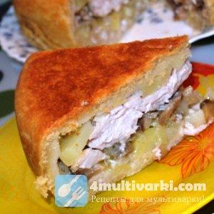 Праздничный рецепт курника в мультиварке