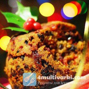 Рождественский рецепт пудинга в мультиварке
