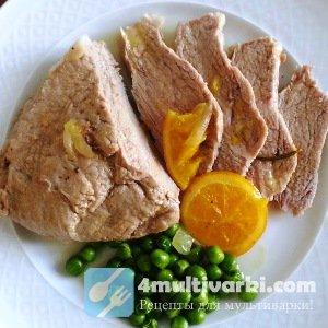 Рецепт тушеного мяса в мультиварке цельным куском